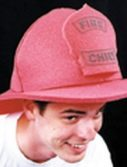 Adult Foam Fire Fighter Hat