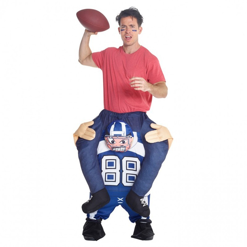 Adult Football Player Piggyback Costume