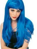 Adult Glamour Long Blue Wig