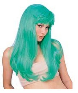 Adult Glamour Long Green Wig