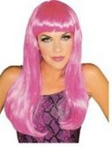 Adult Glamour Long Hot Pink Wig