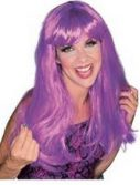 Adult Glamour Long Magenta Wig