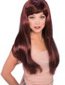 Adult Glamour Long Red and Black Wig