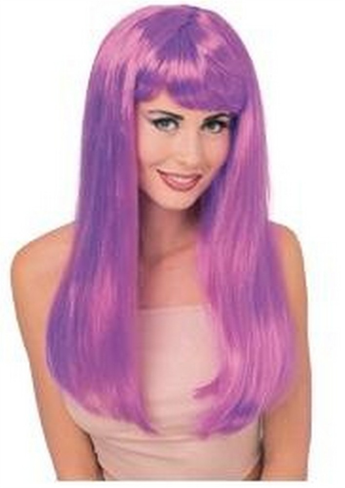 Adult Glamour Long Violet Wig