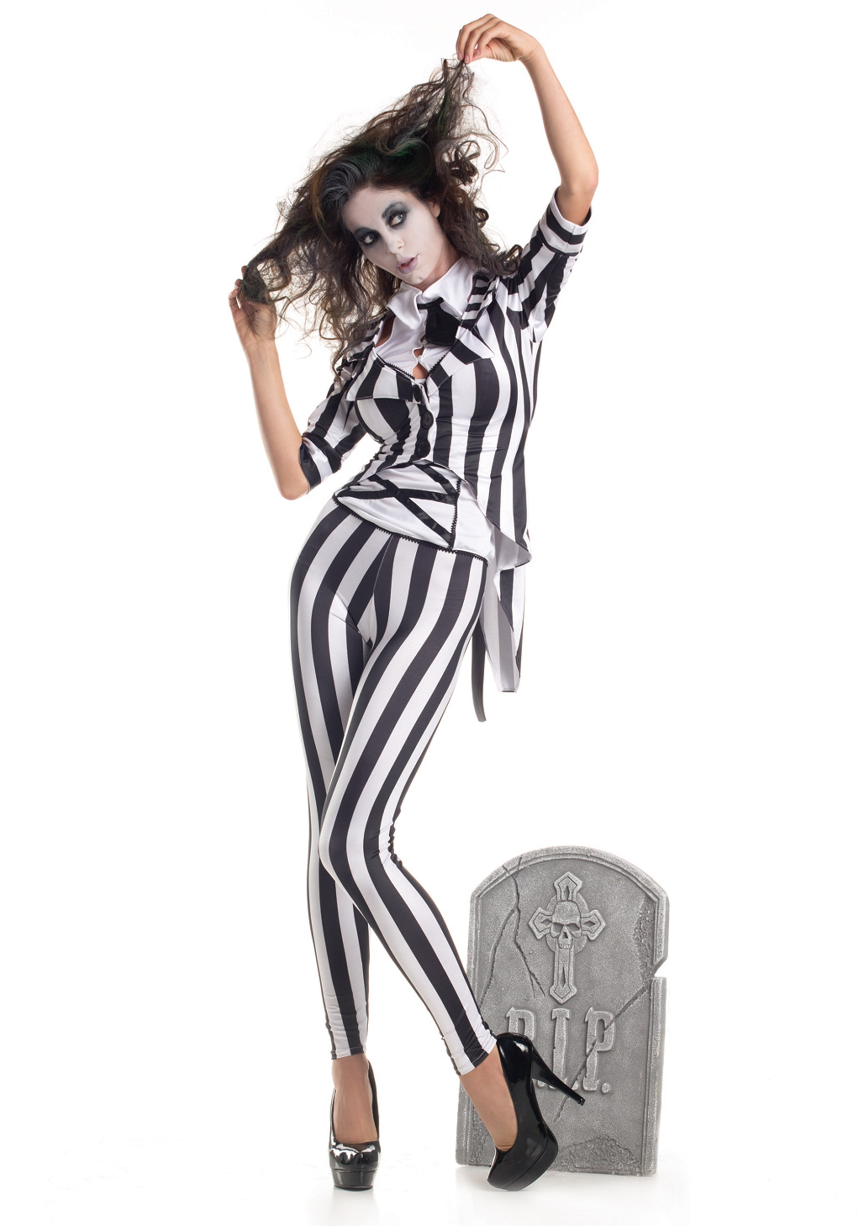 Adult Graveyard Ghost Costume