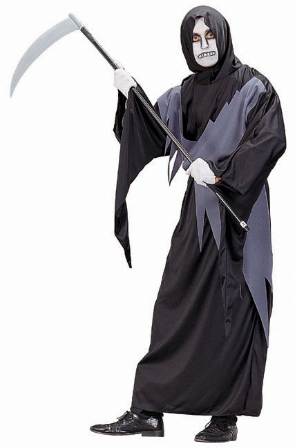 Adult Gray Grim Reaper Costume