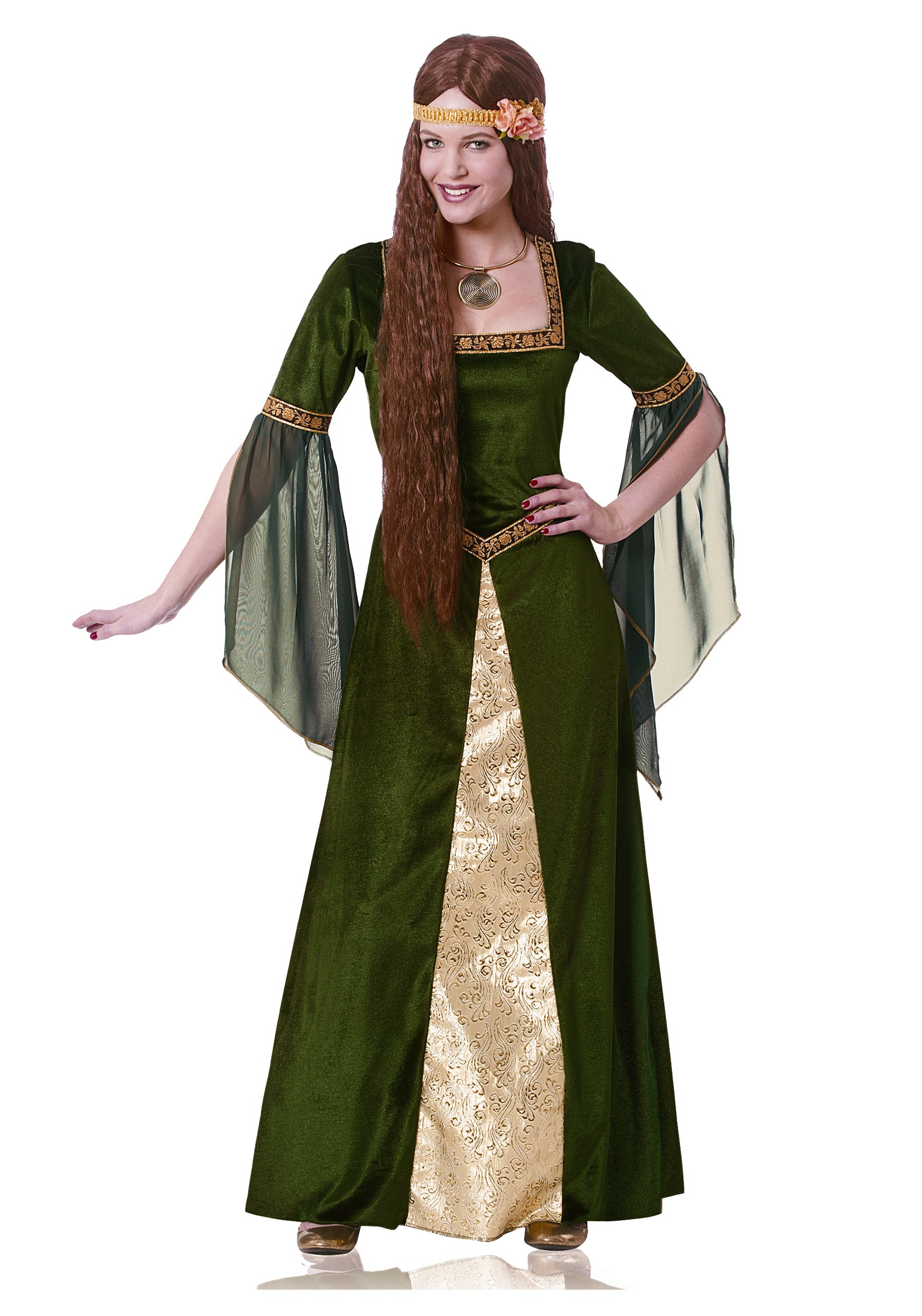 Adult Green Renaissance Lady Costume
