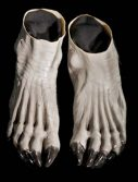 Adult Grey Werewolf Feet Shoes Accessory