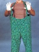 Adult Hooped Clown Costume Pant Set