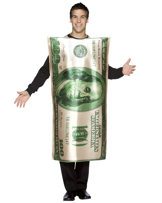 Adult Hundred Dollar Bill Costume