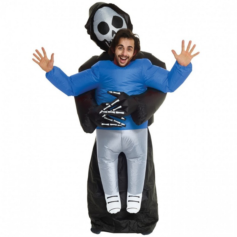 Adult Inflatable Piggyback Grim Reaper