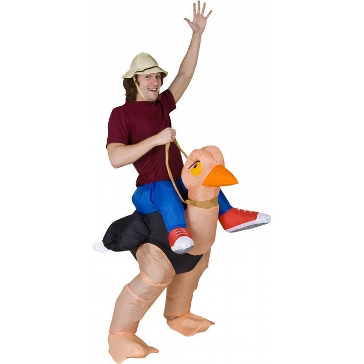 Adult Inflatable Piggyback Ostrich Costume