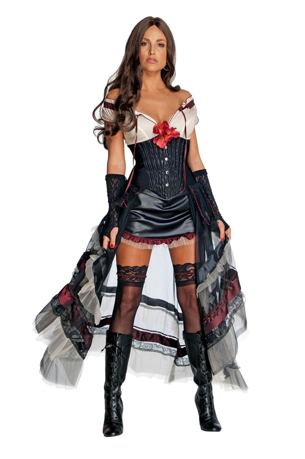 Adult Jonah Hex Lilah Costume - Black