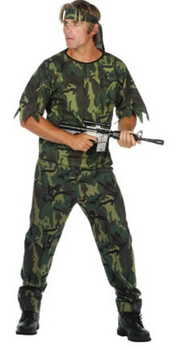 Adult Jungle Soldier Costume