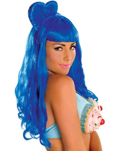 Adult Katy Perry Deluxe California Gurl Wig - Blue