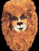 Adult Lion Face Mask with Hair