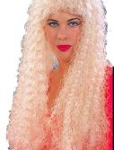 Adult Long Curly Blonde Wig
