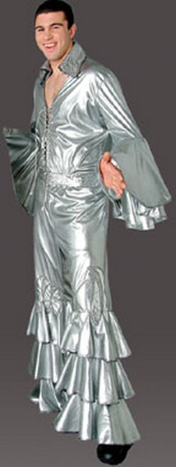 Adult Men's 70's Disco Costume - Silver