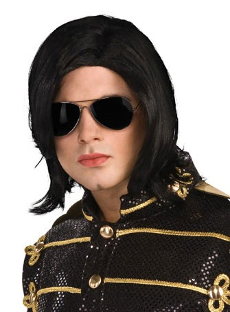 Adult Michael Jackson Straight Wig with Glasses
