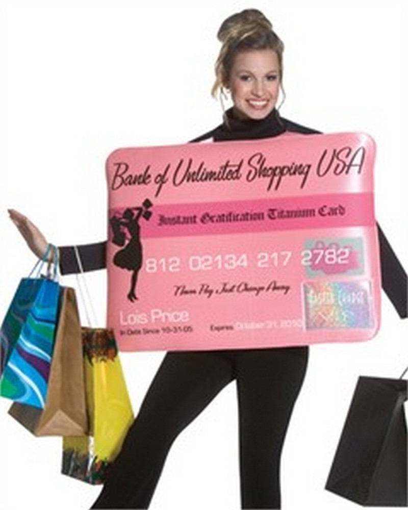 Adult Miss Charge it Credit Card Costume