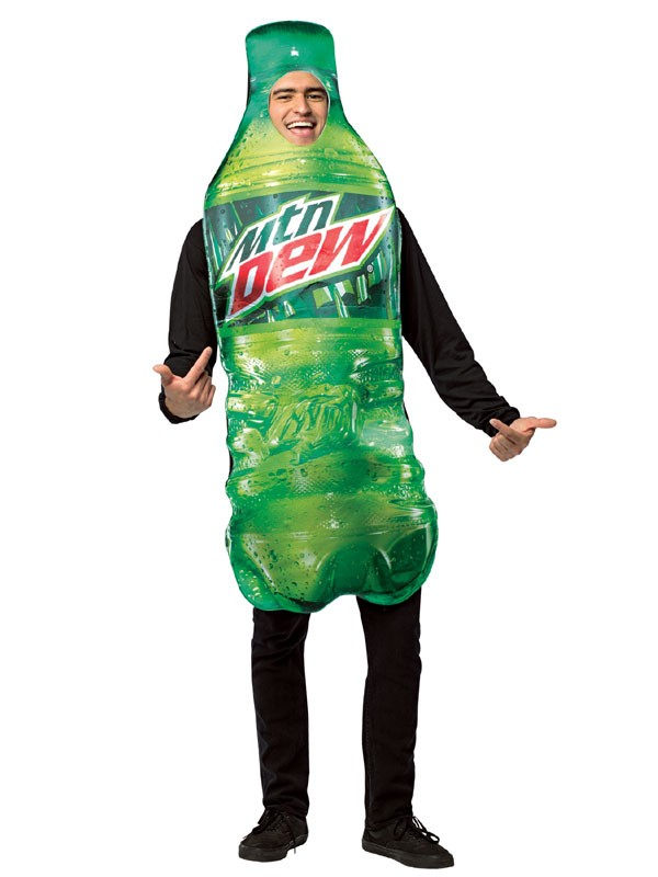 Adult Mountain Dew Bottle Costume