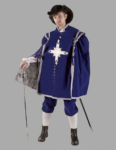 Adult Musketeer Costume ? Blue