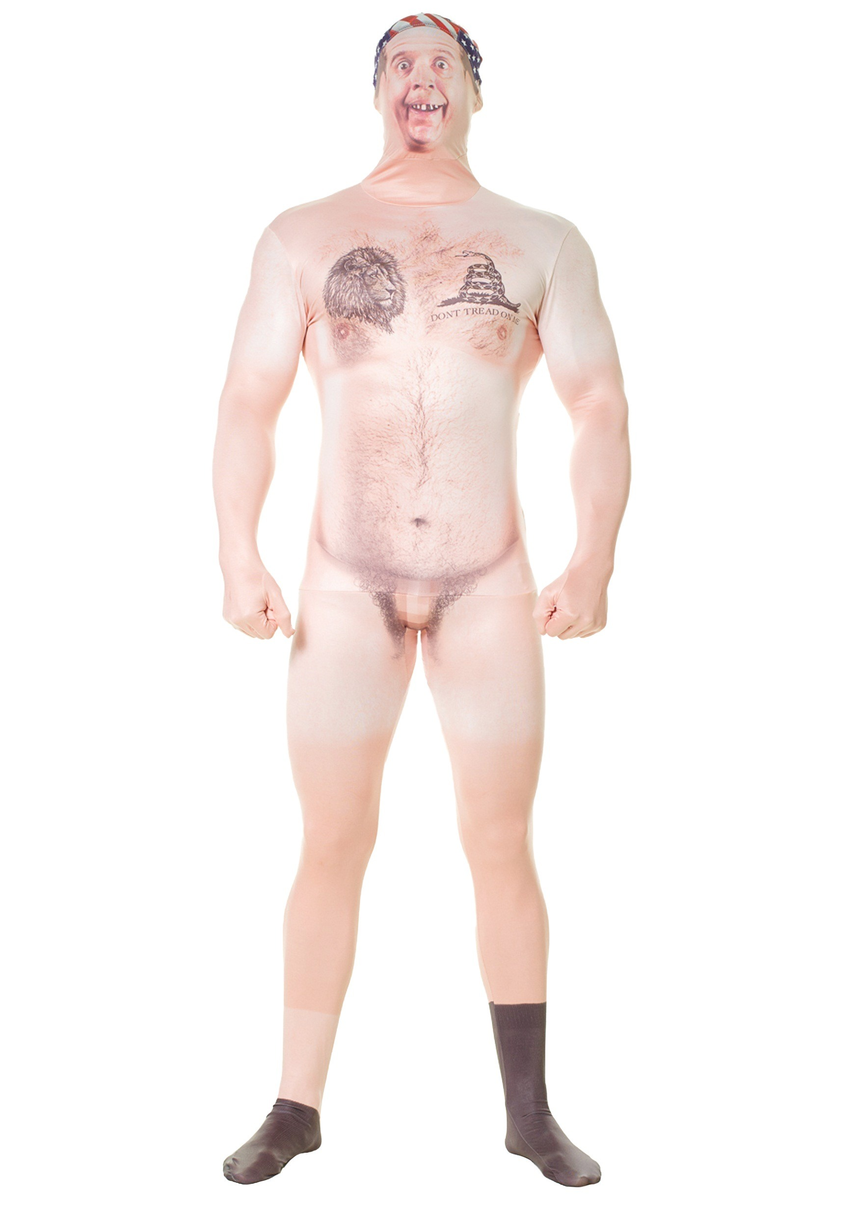 Adult Naked Hillbilly Faux Real Morphsuit