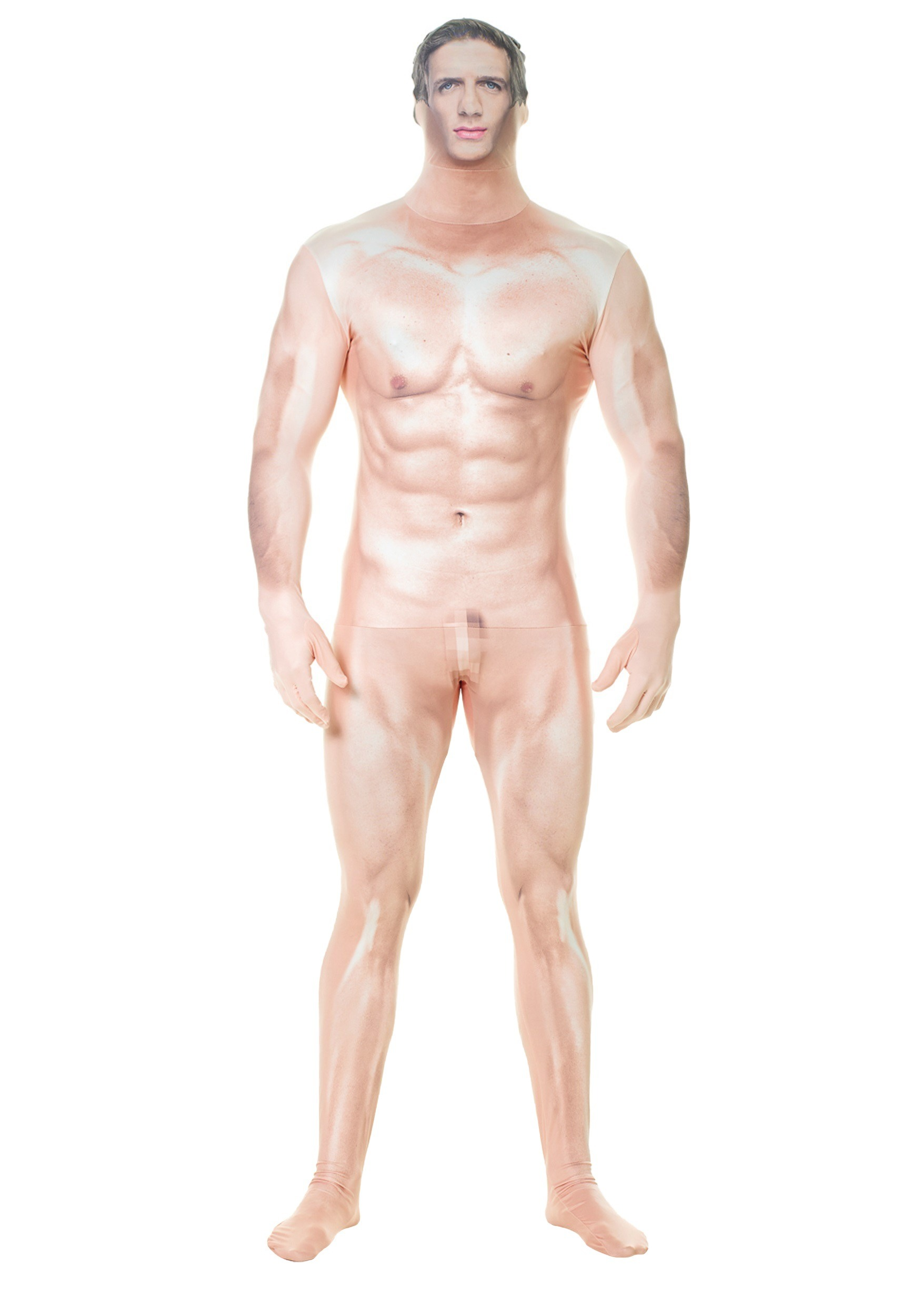 Adult Naked Sexy Man Faux Real Morphsuit