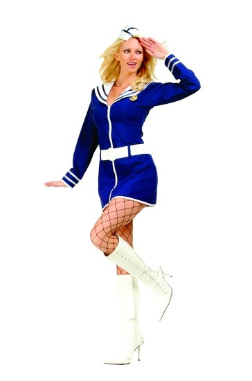 Adult Navy Babe Costume