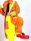 Adult Neon Clown Costume