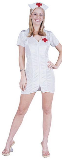 Adult Nurse Costume (2-Way Zip-Up)