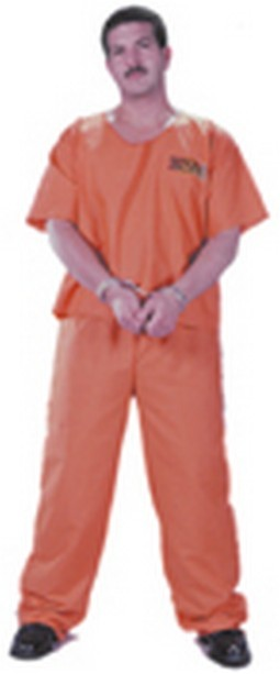 Adult Orange Prisoner Jumpsuit Costume