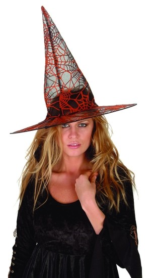 Adult Orange Spider Witch Hat