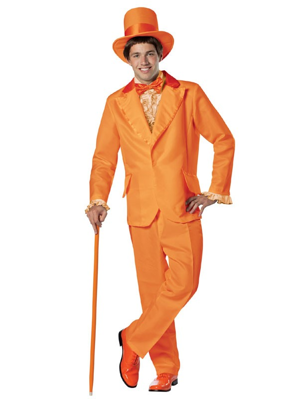 Adult Orange Tuxedo Goofball Costume