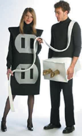 Adult Plug and Socket Costume Set