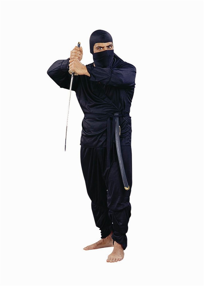 Adult Plus Size Black Ninja Costume