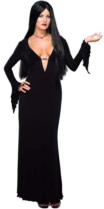 Adult Plus Size Morticia Costume