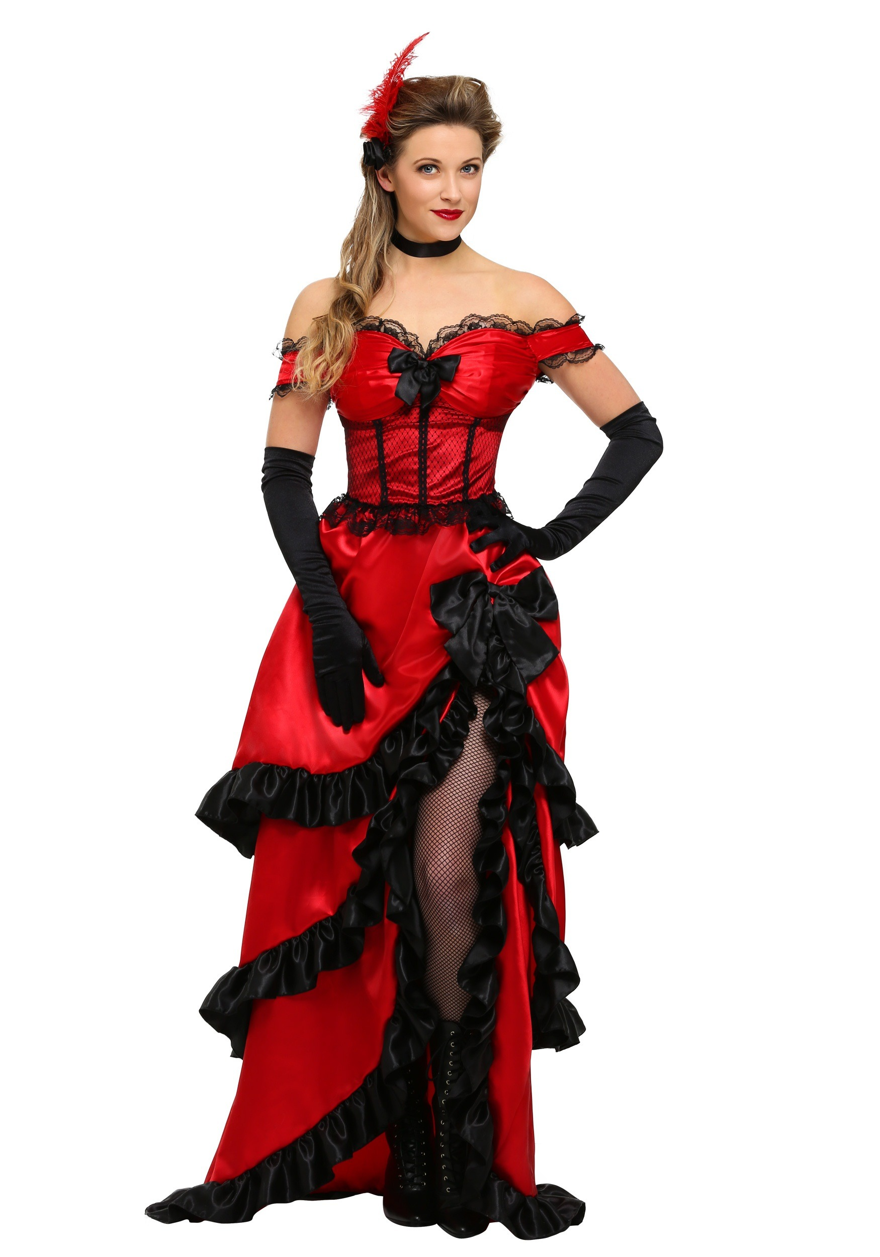Adult Plus Size Saloon Girl Costume