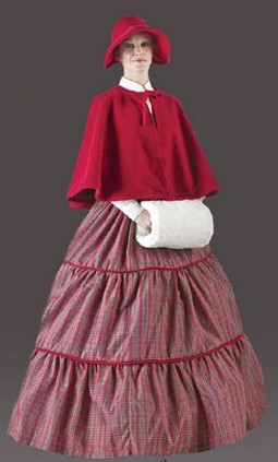 Adult Poinsettia Caroler Costume