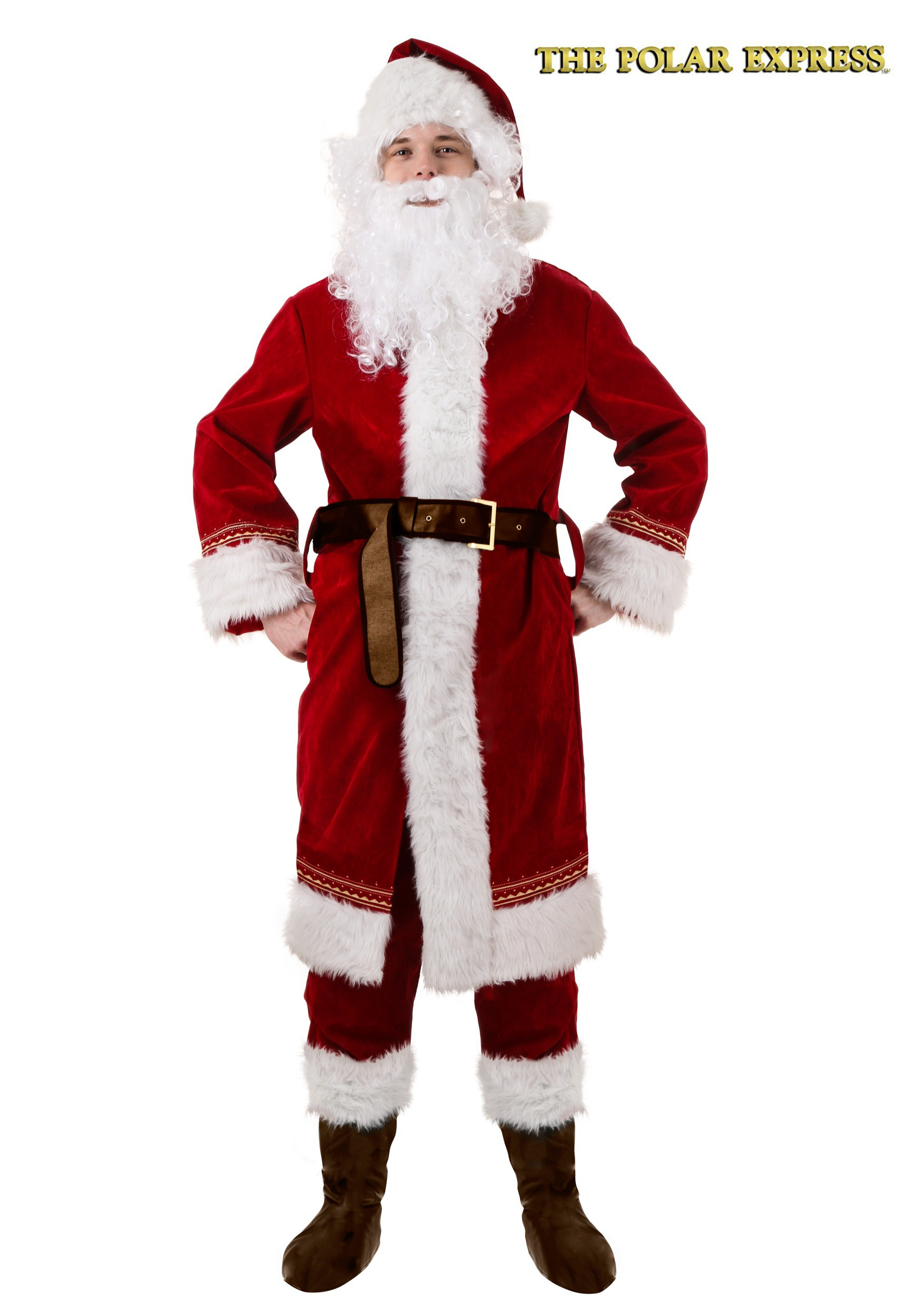 Adult Polar Express Santa Costume
