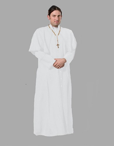 Adult Priest Costume ? White