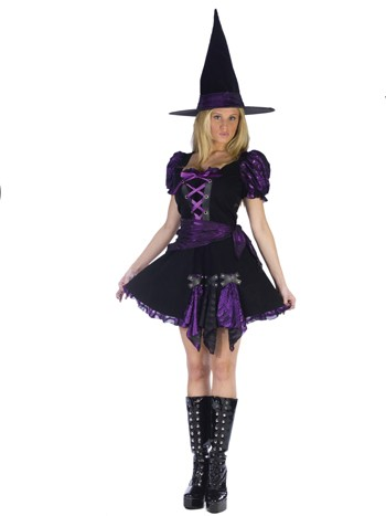 Adult Purple Punk Witch Costume