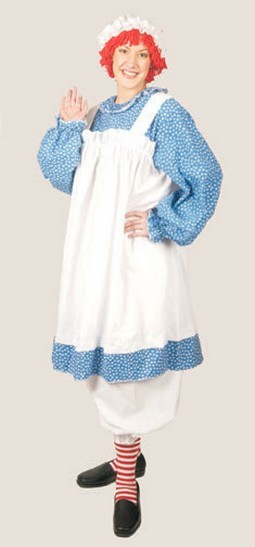 Adult Raggedy Ann Costume- Plus Size