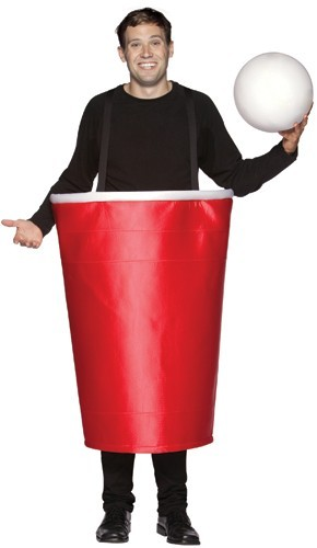 Adult Red Beer Pong Cup Costume