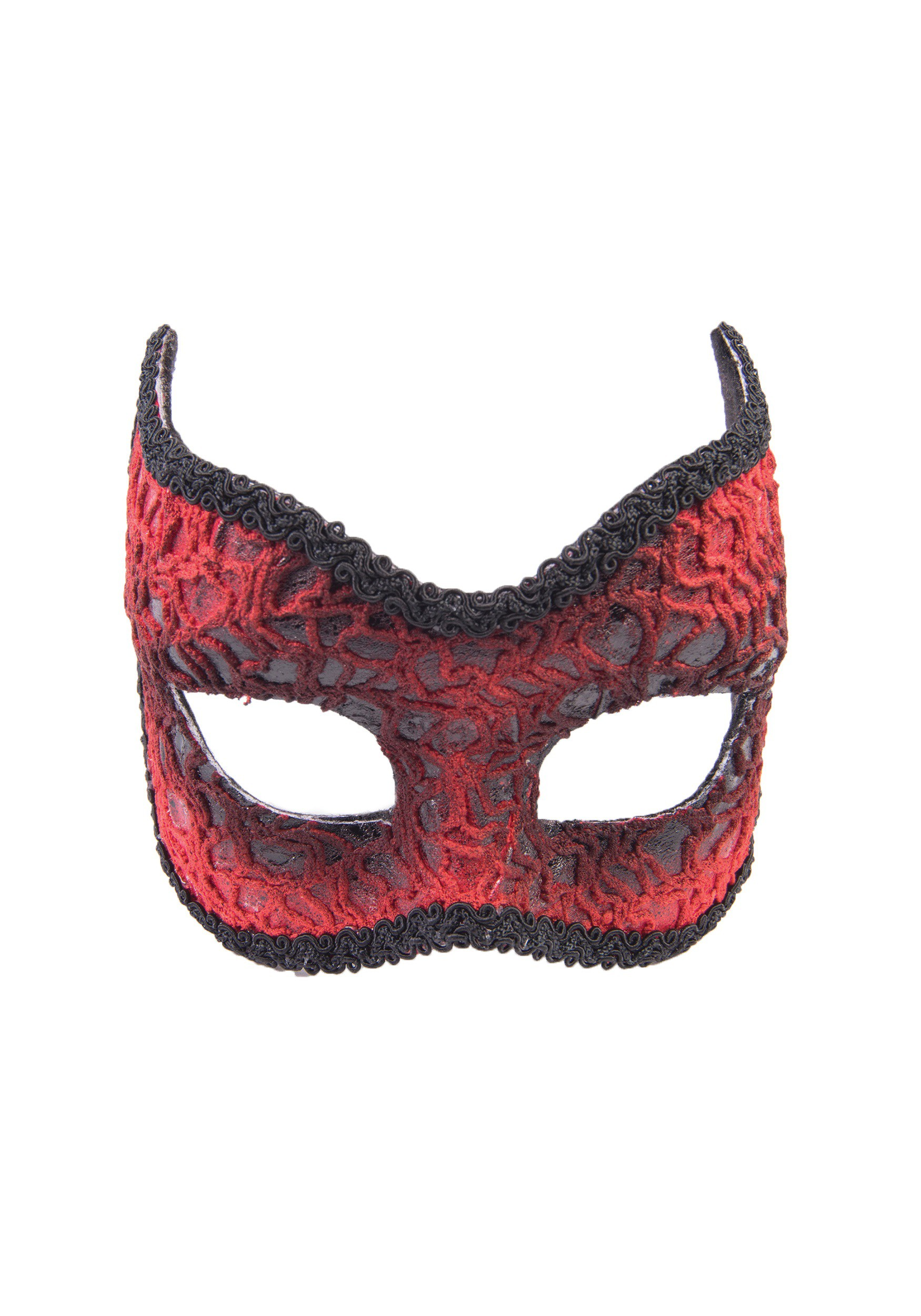 Adult Red Lace Devil Mask