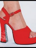 Adult Red Leather Platform Shoes