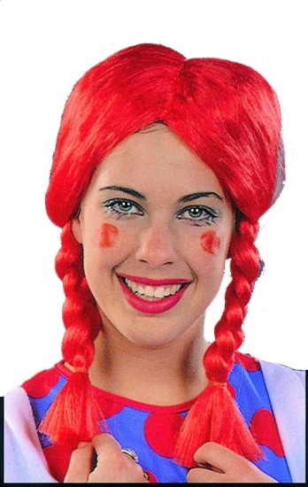 Adult Red Pigtail Wig