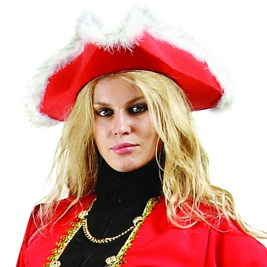 Adult Red Pirate Hat