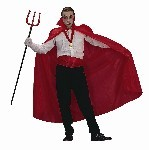 Adult Red Polyester Cape