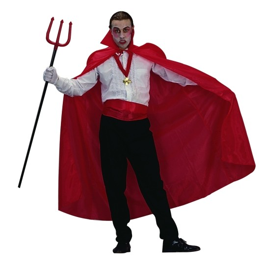 Adult Red Satin Cape